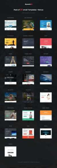 Supra - Pack of 20 Templates - Online Template Builder