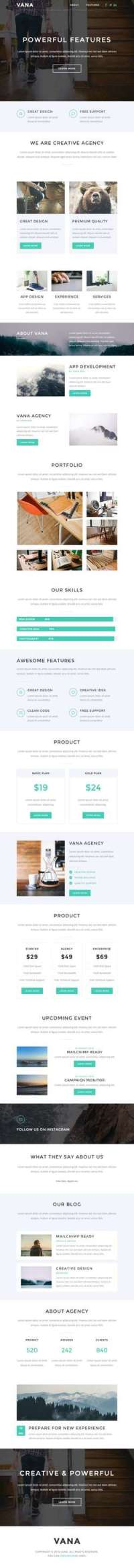 Vana - Responsive Email - StampReady Builder