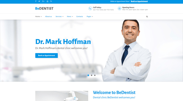best medical wordpress themes feature