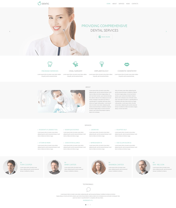 dentic medical wordpress themes