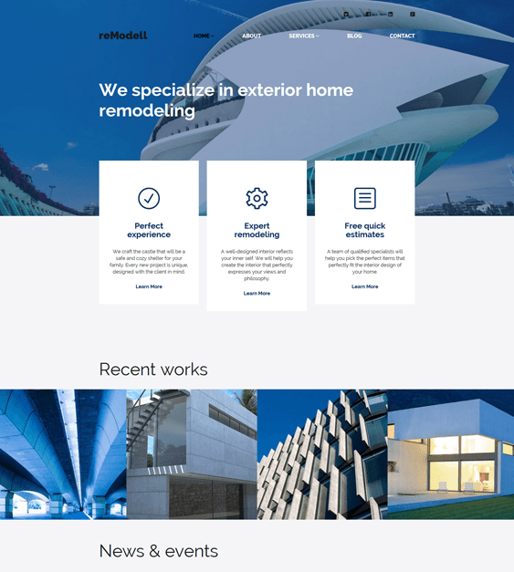 remodell construction companies building contractors wordpress themes