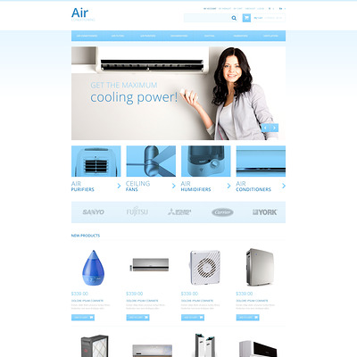 Air Conditioners Magento Theme (Magento theme for home improvement and construction supply stores) Item Picture