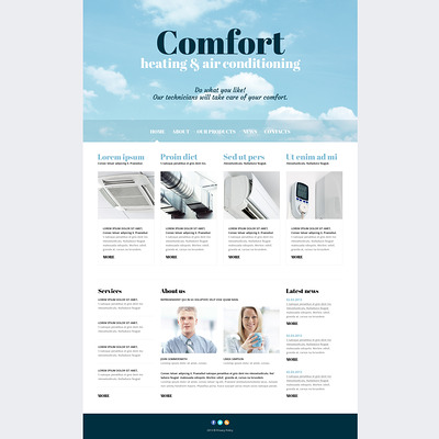 Air Conditioning Responsive Joomla Template (Joomla template for construction companies) Item Picture