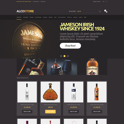 Alcoholic Beverages Magento Theme (Magento theme for selling beer, wine, and liquor) Item Picture