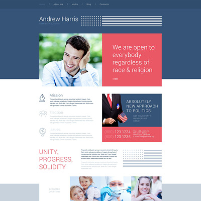 American Politician WordPress Theme (WordPress theme for politics) Item Picture