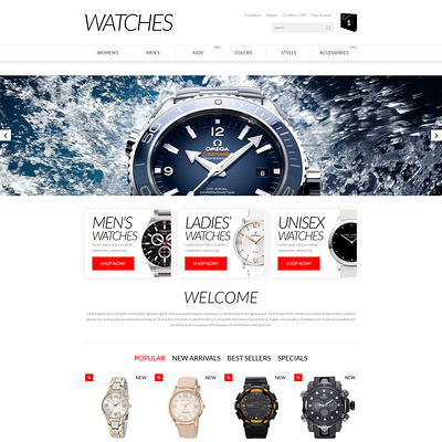 Apparel PrestaShop Theme (PrestaShop theme for watch stores) Item Picture