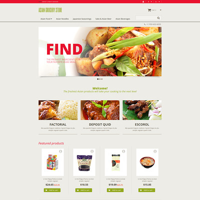 Asian Grocery Store PrestaShop Theme (PrestaShop theme for food stores) Item Picture