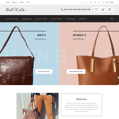 Auricus (PrestaShop theme for purses and handbags) Item Picture