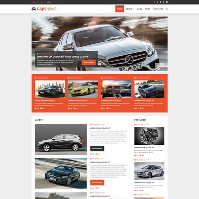 Auto Highlights Joomla Template (Joomla template for car, vehicle, and automotive websites) Item Picture