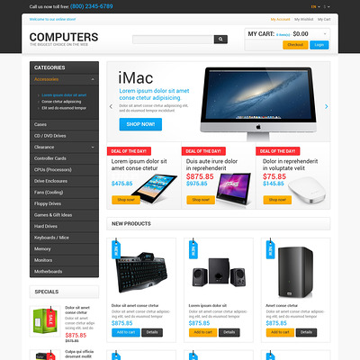Best Computers on the Net Magento Theme (Magento theme for computers and hardware) Item Picture