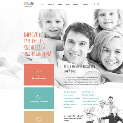 Big Family Joomla Template (Joomla template for family websites) Item Picture