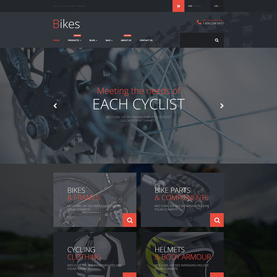 Bike Store Shopify Theme (Shopify theme for sports stores) Item Picture