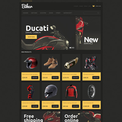 Bikes and Motorcycles Magento Theme (Magento theme for car, automotive, and vehicle stores) Item Picture