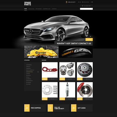 Black Auto Parts OpenCart Template (OpenCart theme for automotive, car, and vehicle stores) Item Picture