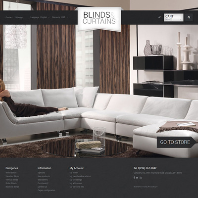 Blinds and Curtains PrestaShop Theme (PrestaShop theme for home decor stores) Item Picture