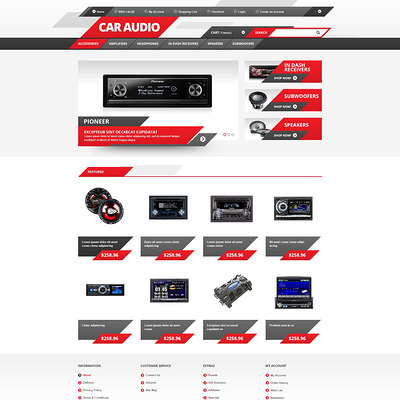 Car Audio OpenCart Template (OpenCart theme for automotive, car, and vehicle stores) Item Picture