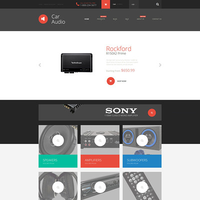 Car Audio Shopify Theme (Shopify theme for car, vehicle, and automotive stores) Item Picture