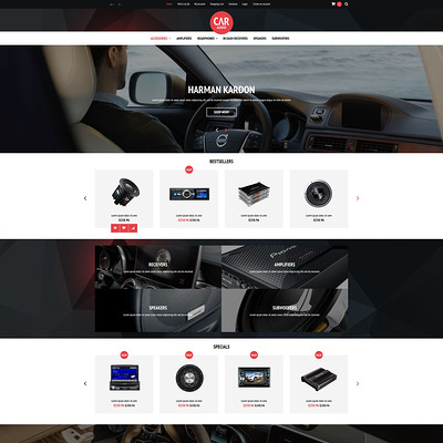 Car Audio Video Equipment OpenCart Template (OpenCart theme for automotive, car, and vehicle stores) Item Picture