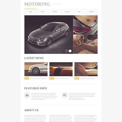 Car Bike Magazine Drupal Template (Drupal theme for car, vehicle, and automotive websites) Item Picture