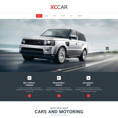 Car Club Responsive Drupal Template (Drupal theme for car, vehicle, and automotive websites) Item Picture