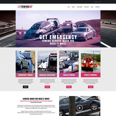 Car Repair Responsive Drupal Template (Drupal theme for car, vehicle, and automotive websites) Item Picture