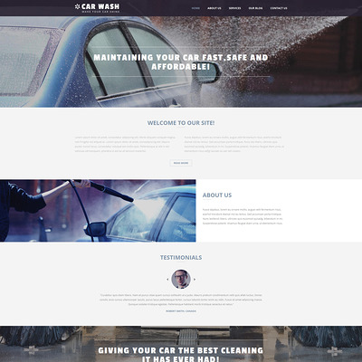 Car Wash Business Joomla Template (Joomla template for car, vehicle, and automotive websites) Item Picture