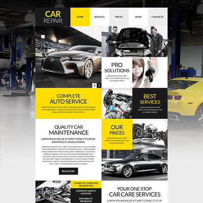 Car Workshop WordPress Theme (WordPress theme for car, vehicle, and automotive websites) Item Picture