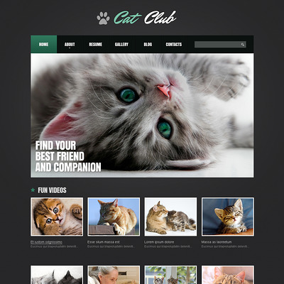 Cat Responsive Joomla Template (Joomla template for websites about pets and animals) Item Picture