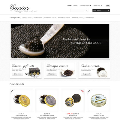 Caviar Online Store PrestaShop Theme (PrestaShop theme for food stores) Item Picture