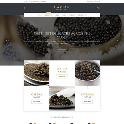 Caviar Shopify Theme (Shopify theme for food) Item Picture