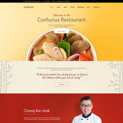 Chinese Restaurant Responsive WordPress Theme (WordPress theme for restaurants) Item Picture