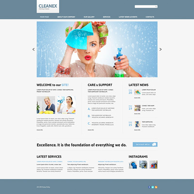Cleaning Responsive Joomla Template (Joomla template for cleaning companies and maid services) Item Picture