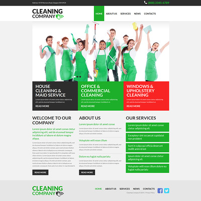 Cleaning Services Joomla Template (Joomla template for cleaning companies and maid services) Item Picture