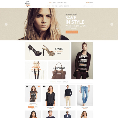 Clothing Diversity PrestaShop Theme (PrestaShop theme for womens clothing) Item Picture