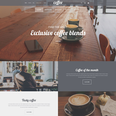Coffee House PrestaShop Theme (PrestaShop theme for tea and coffee) Item Picture