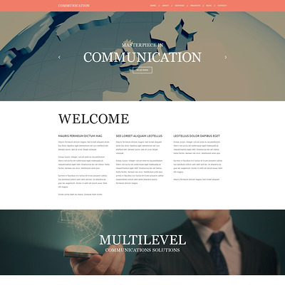 Communication Joomla Template (Joomla template for internet providers and communications companies) Item Picture