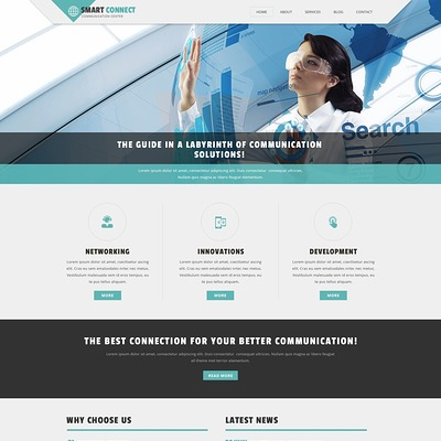 Communication Provider Joomla Template (Joomla template for internet providers and communications companies) Item Picture