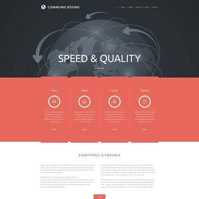 Communications Joomla Template (Joomla template for internet providers and communications companies) Item Picture