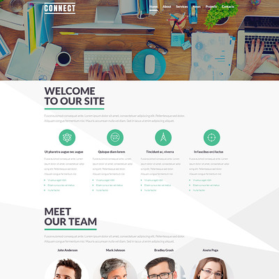 Communications Service Theme Joomla Template (Joomla template for internet providers and communications companies) Item Picture