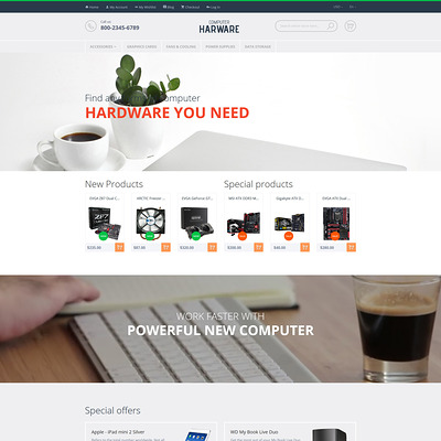 Computer Hardware Magento Theme (Magento theme for computers and hardware) Item Picture