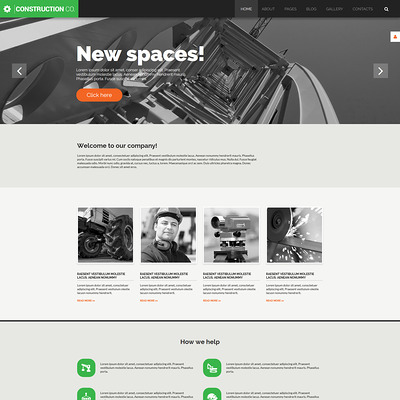Construction Co Joomla Template (Joomla template for construction companies) Item Picture