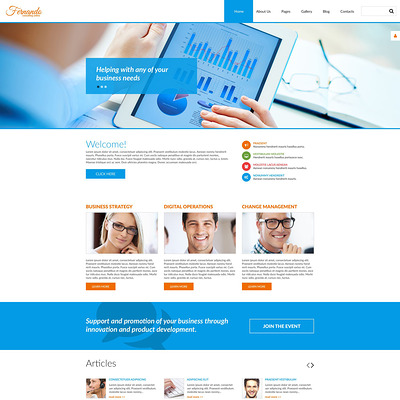 Corporate Consulting Joomla Template (Joomla template for consultants and consulting firms) Item Picture
