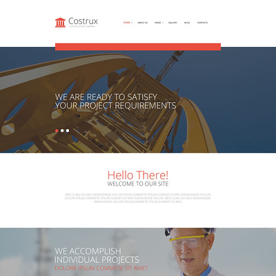 Costrux Joomla Template (Joomla template for construction companies) Item Picture