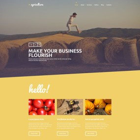 Crop Farming WordPress Theme (farming and agricultural WordPress theme) Item Picture