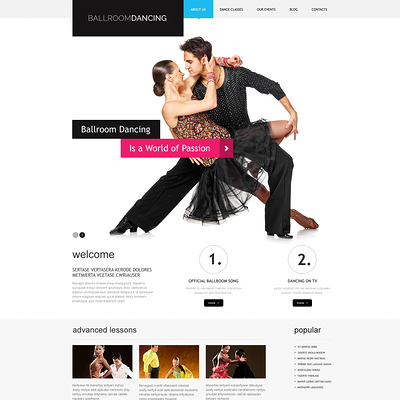 Dance Studio Responsive WordPress Theme (education WordPress theme) Item Picture