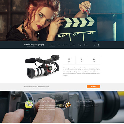 Director of Photography WordPress Theme (WordPress theme for photogaphers) Item Picture
