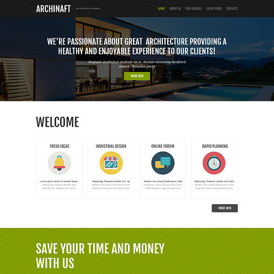 Dream Design Board Joomla Template (Joomla template for architecture ) Item Picture