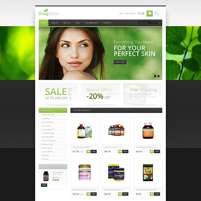 Drug Store Responsive Shopify Theme (Shopify theme for medical and health stores) Item Picture
