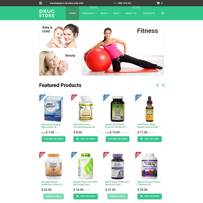 Drug store Shopify Theme (Shopify theme for medical and health stores) Item Picture