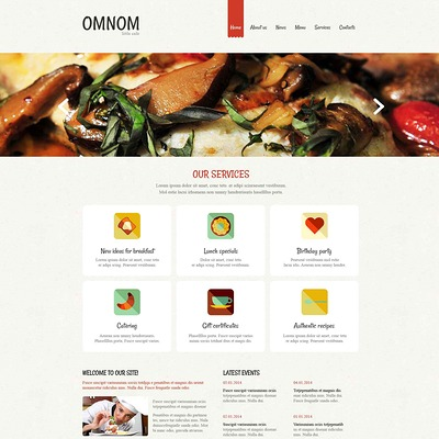European Restaurant Responsive Drupal Template (Drupal theme for restaurants) Item Picture
